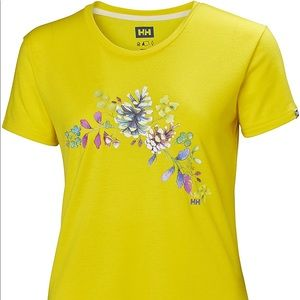Norwegian Helly Hanson Yellow Floral Graphic SZ M